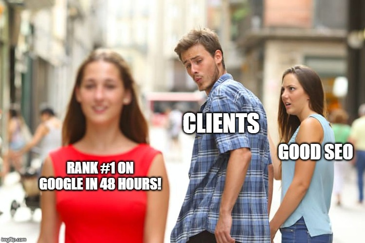 Distracted Boyfriend SEO Meme